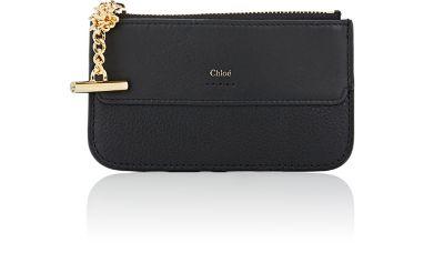Chloe Black Drew Zipped Card Holder