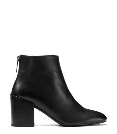 The Bacari Bootie in Black Nappa Leather