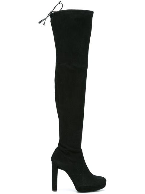 Stuart Weitzman Plathighland Heeled Boots - Black