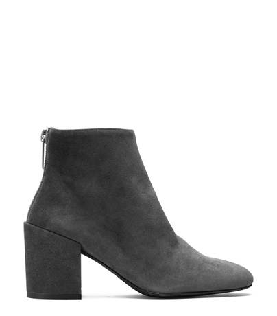 The Bacari Bootie in Slate Medium Gray Suede