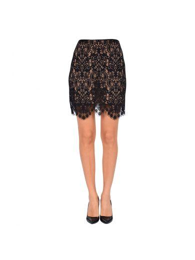 FOR LOVE & LEMONS Vika Mini Skirt in Black