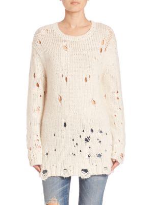 R13 distressed loose sweater