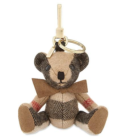 Thomas bear graffiti cashmere keyring Burberry