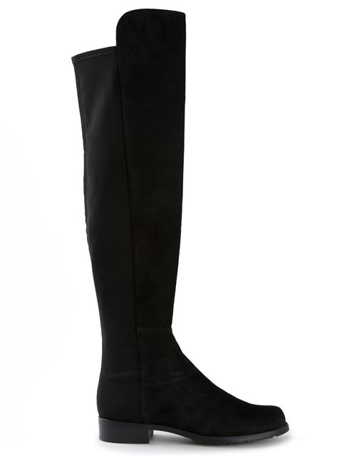 Women'S 5050 Stretch Suede Over-The-Knee Boots, Black