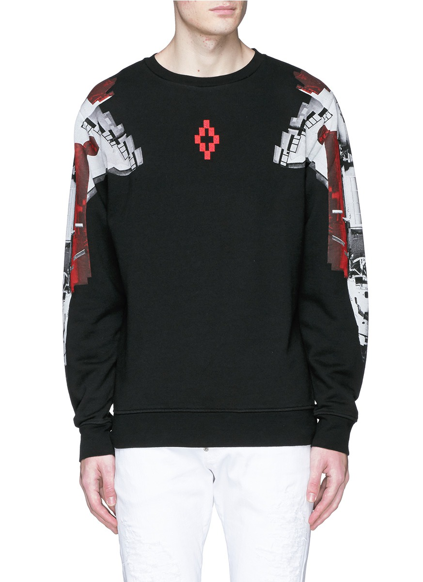 Black long sleeve t-shirt with prints Marcelo Burlon New Arrival Sale Online Order Cheap Online Get Online oHwtVL