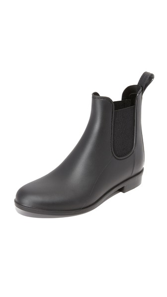 Tinsley Gored Matte Ankle Rain Boot, Black