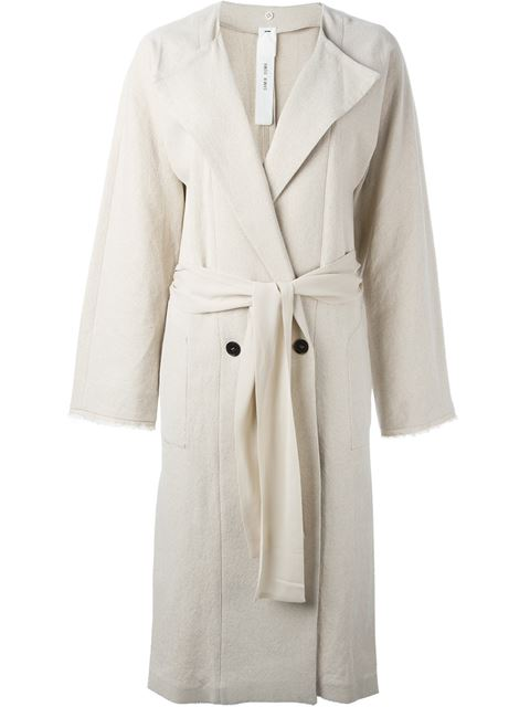 Damir Doma Double Breasted Coat - Nude & Neutrals