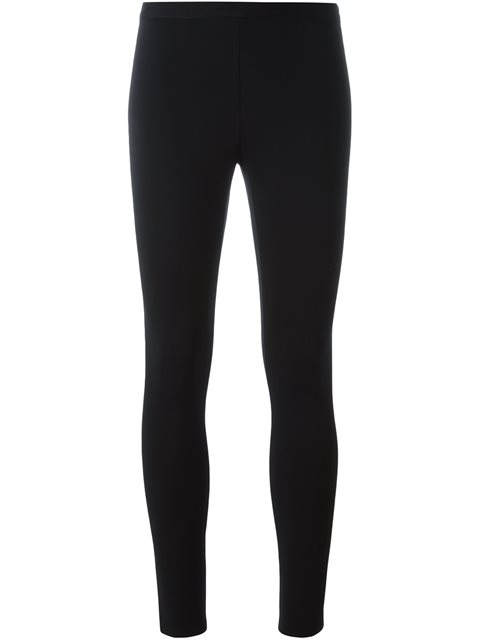 Stretch-Microfiber Leggings - Blk Size Xs in Black