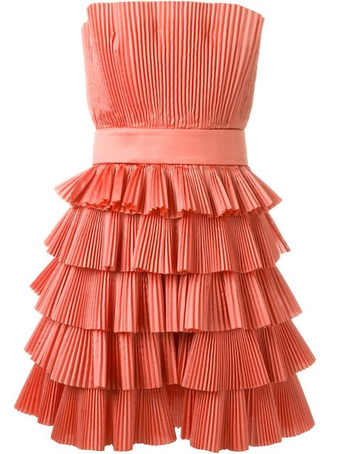 CAPUCCI Capucci Strapless Pleated Dress - Pink
