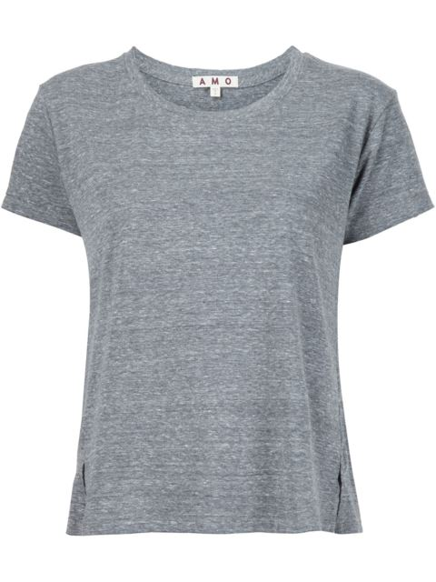 AMO Twist Crop T-Shirt in Grey