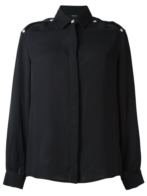 Versus Slit Shoulder Shirt - Black