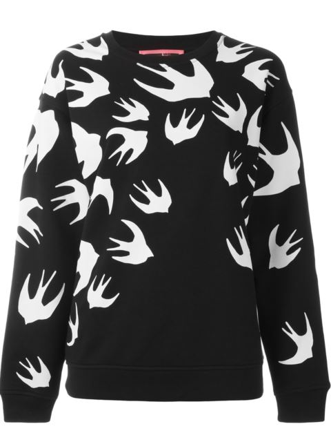 Mcq Alexander Mcqueen Women'S  Black Cotton Sweatshirt