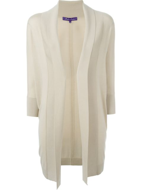 Ralph Lauren Fold Quarter Sleeve Draped Cardigan Coat - Neutrals