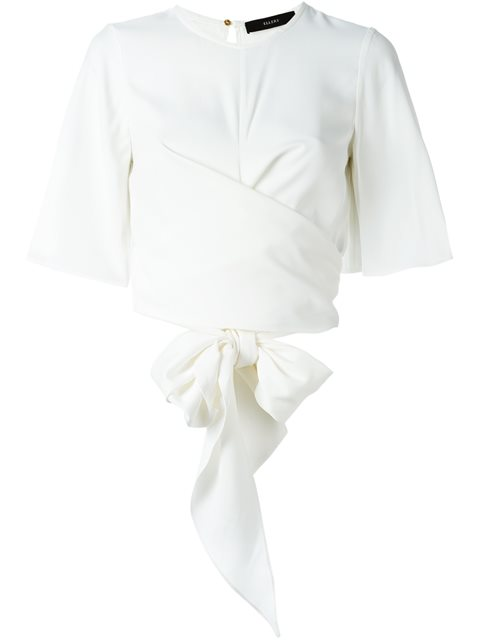 ellery dalliance wrap around cr pe blouse in ivory modesens John Deere Net Wrap ellery dalliance wrap around cr pe blouse in ivory