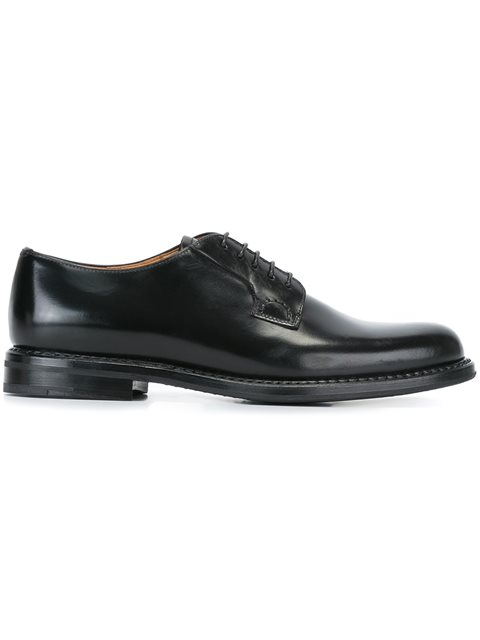 Shannon 2 Lace-Up Leather Derby Shoes in Black