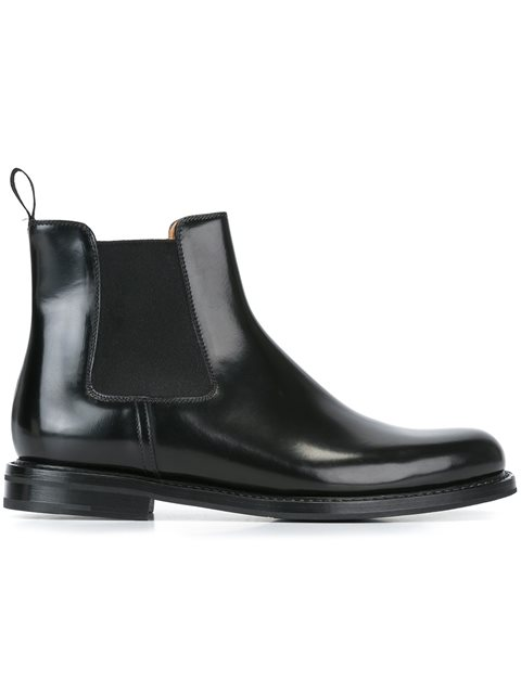 Monmouth Leather Ankle Boots, Black