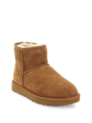 'Classic Mini Ii' Genuine Shearling Lined Boot (Women), Chestnut Suede
