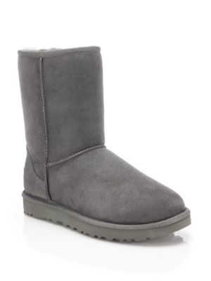 Women'S Classic Ii Genuine Shearling Lined Short Boots, Grey