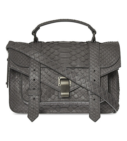 Proenza Schouler Ps1 Tiny Python Shoulder Bag In Heather Grey ... dd30acd299