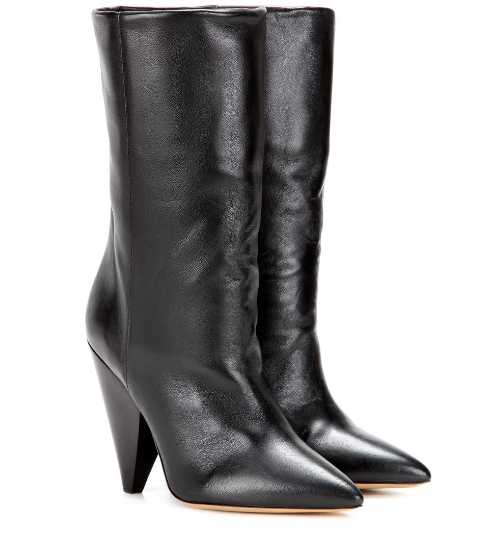 Étoile Darilay Leather Ankle Boots in Black