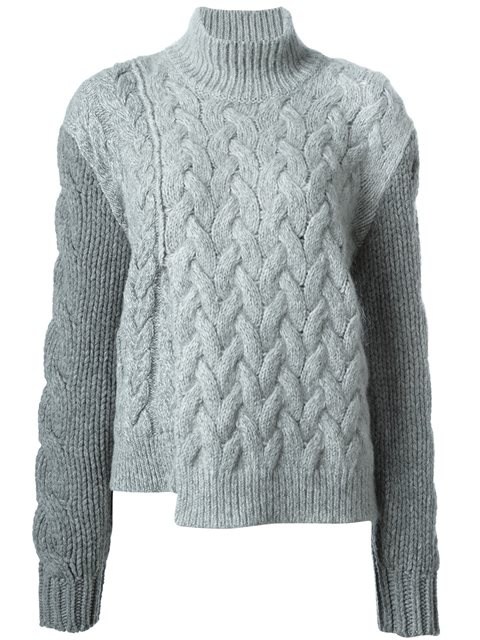 f7de056d49 Stella Mccartney Women S Chunky Stitched Roll Neck Sweater In Grey In Wolf  Grey