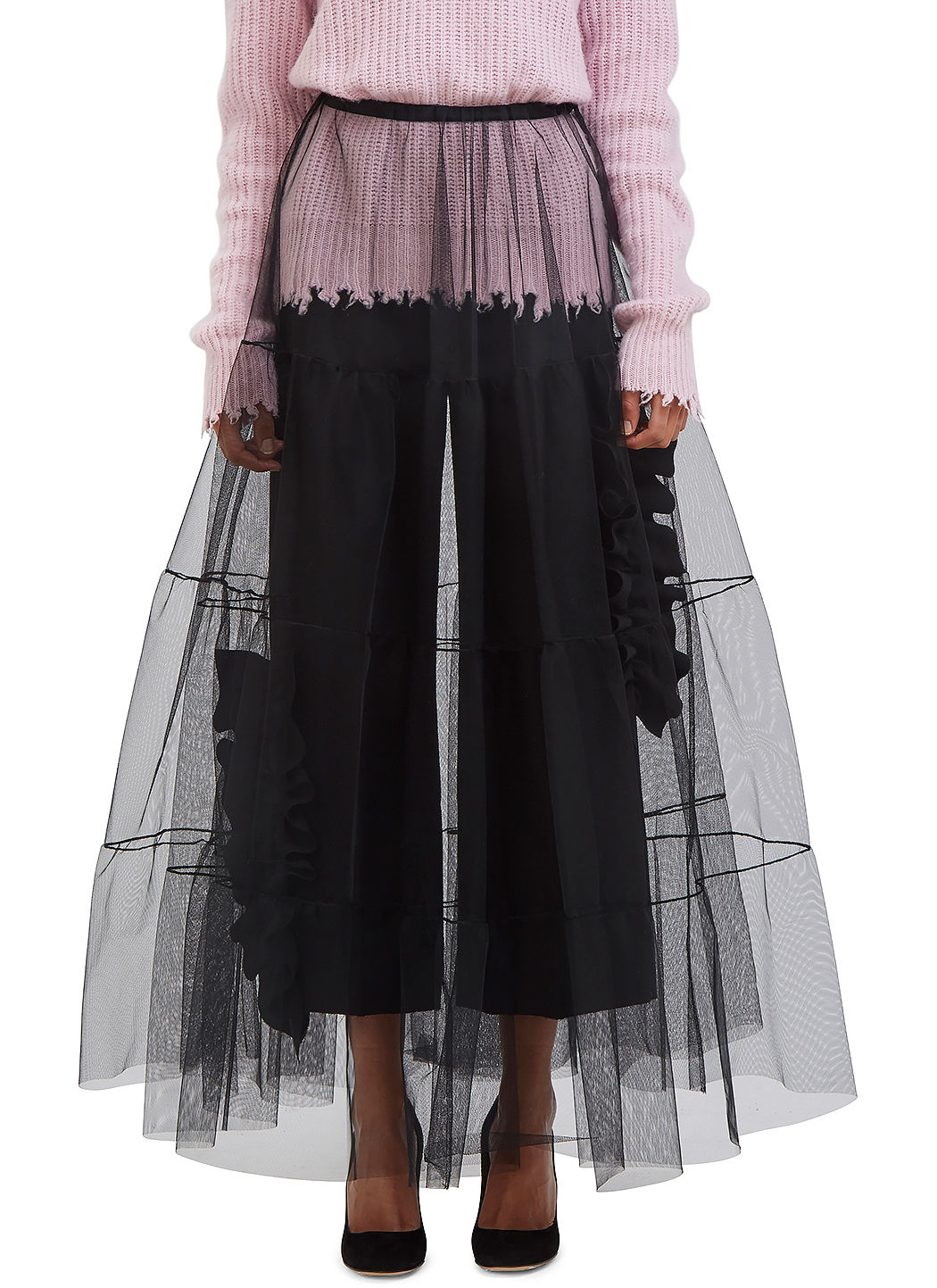 Black Tulle Skirt Msgm