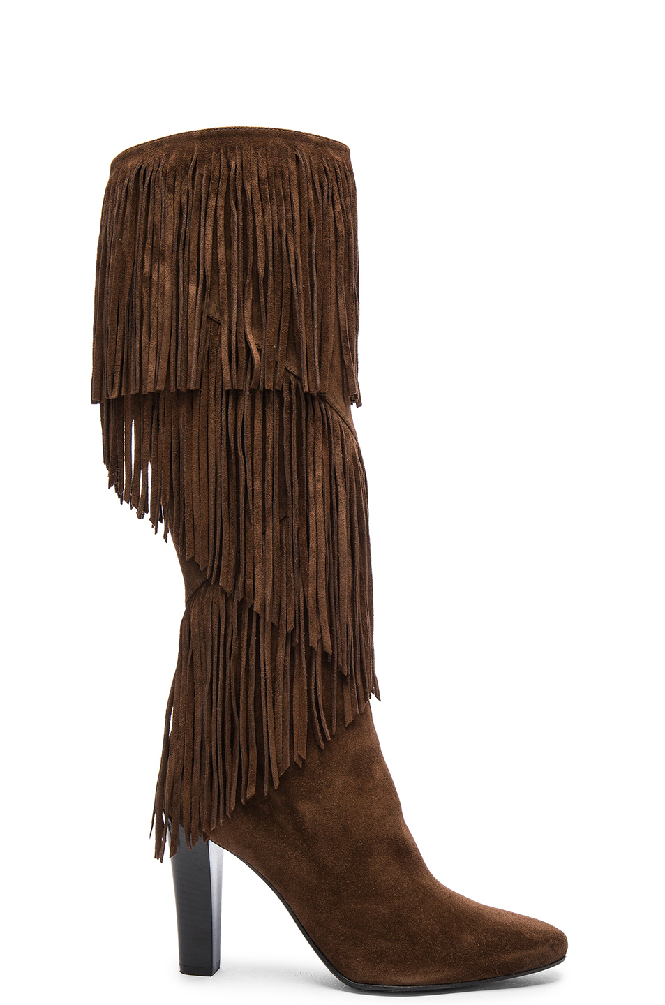 Suede Lily Fringe Boots, Coffy