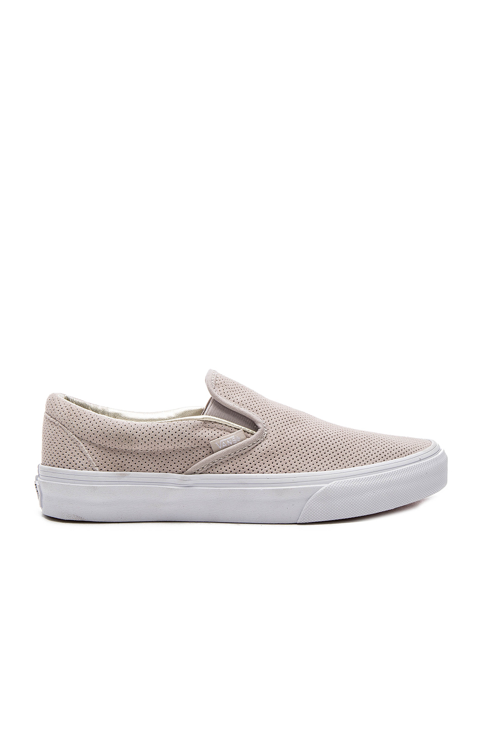 Vans Classic Slip-On Sneaker In Silver Cloud   True White  23a408f4a
