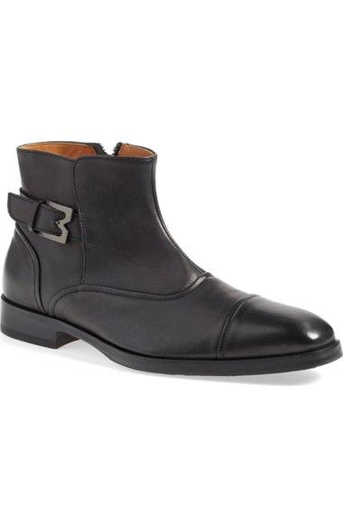 BRUNO MAGLI Men'S Arcadia Nappa Leather Boots in Black Leather