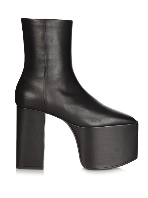 Balenciaga Leather Platform Booties Sale Extremely New Cheap Price Wide Range Of For Sale 8a9H6d