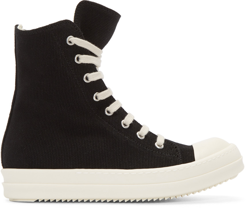 Rick Owen'S Women'S Black High Top Sneakers