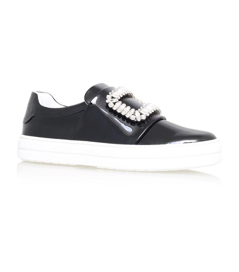 Sneaky Viv Embellished Patent Leather Skate Sneakers in Llack