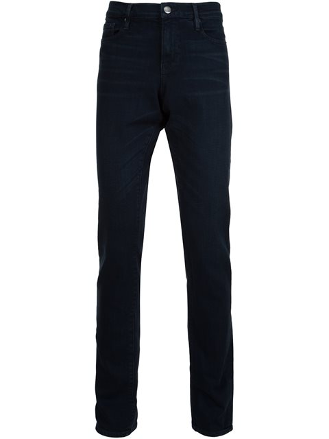 L'Homme Skinny Fit Jeans In Fade To Grey in Blue