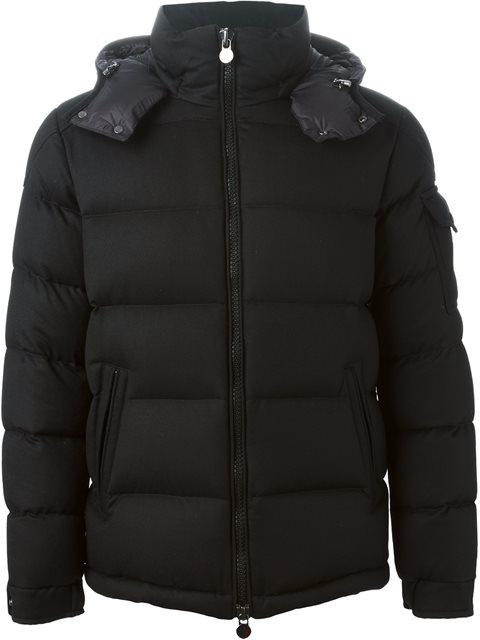 Montgenevre Light Flannel Down Jacket in Black