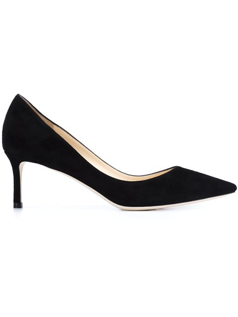 Romy 60 Black Suede Pointy Toe Pumps