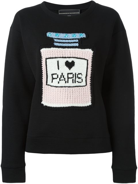 MICHAELA BUERGER I Love Paris Sweatshirt in Black