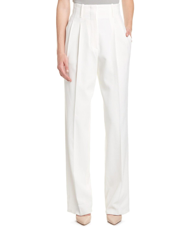 Zanzara Stretch Cotton Bootleg Trousers, White
