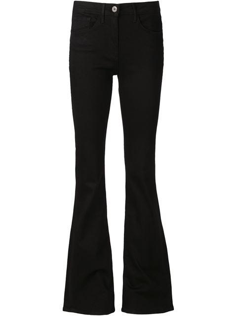 W2 Split Bell Mid-Rise Bootcut Jeans, Black Overdye