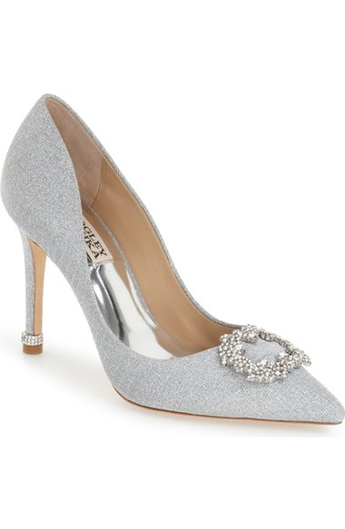 cheap best prices Badgley Mischka Metallic Embellished Pumps for sale online Fbs3Da