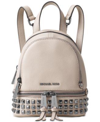 0f66351a2060 ... wholesale michael kors medium rhea studded backpack cement 6d91c 8b679