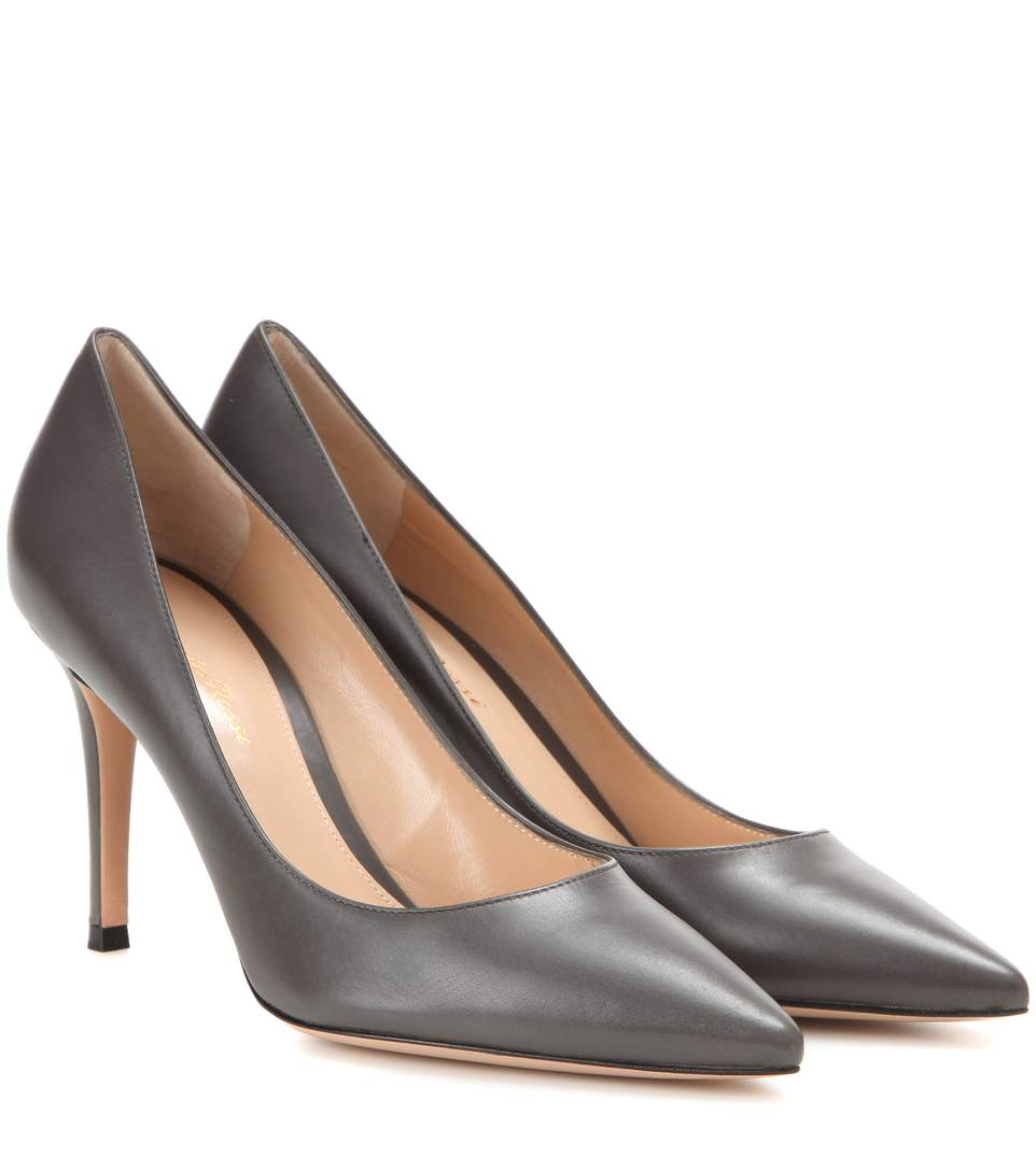 Gianvito 85 Leather Pumps in Lapis