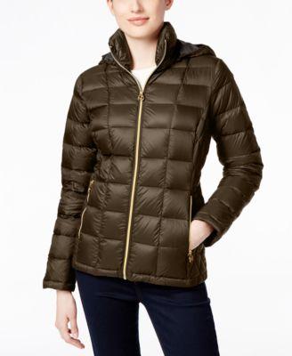 cb36dbf17b7 Michael Kors Michael Petite Hooded Packable Down Puffer Coat