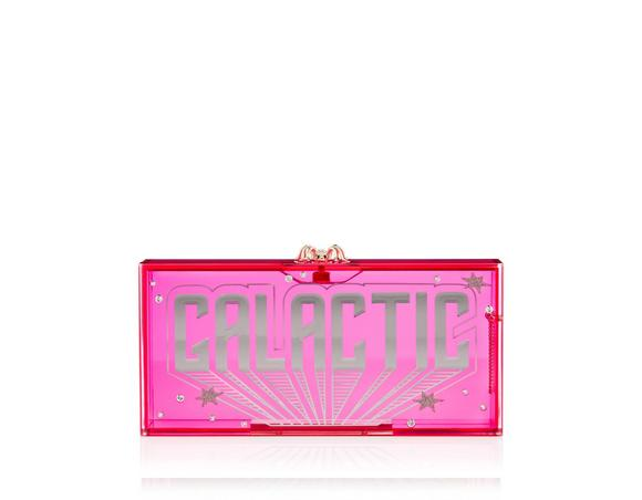 Woman Galactic Penelope Embellished Perspex Clutch Bright Pink, Pink & Purple