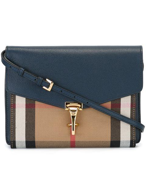 Women'S Leather Cross-Body Messenger Shoulder Bag Macken in Blue