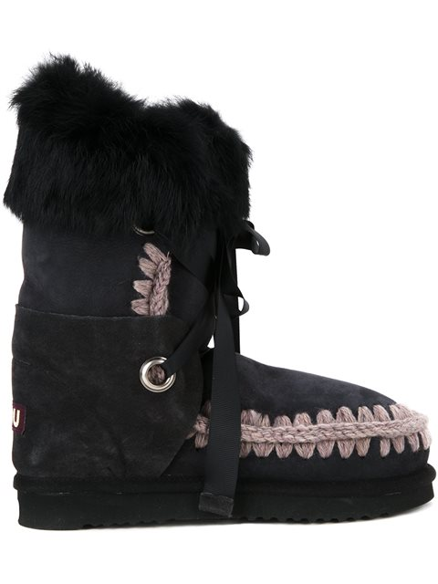 'Eskimo Lace' Boots in Offb from mou