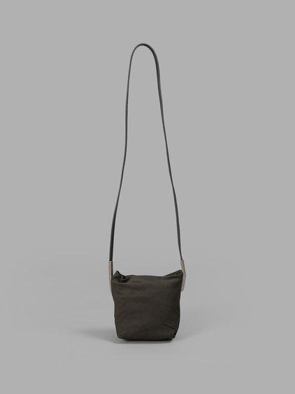 Mini Duffle Leather Backpack in Black