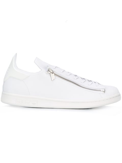 Super Zip Leather Sneakers, White