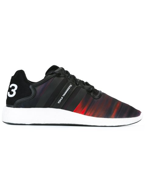 Yohji Run Trainer Sneaker, Black/White/Multi, Detritus/Core Black/White