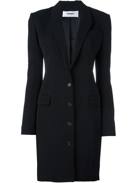 Chalayan Signature Fitted Long Jacket - Black