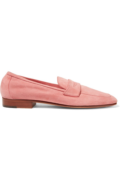 Mansur Gavriel Round-Toe Suede Loafers Get To Buy Cheap Online Inexpensive Cheap Online 5lxmtPc